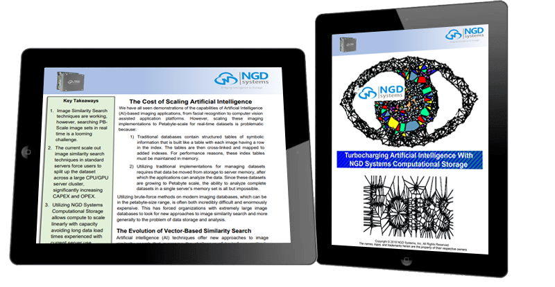NGD Systems' research study about Turbocharging Artificial Intelligence.