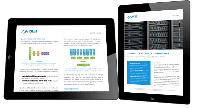 NGD Systems' white paper about SSD capacity and system performance.