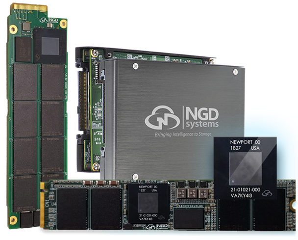 Utilizes a breakthrough architecture providing in-situ processing platform for customers to allow applications to run within the drive minimizing network and data traffic, minimizing CPU and memory footprint